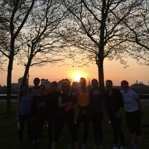 sweaty betty, workout, london, events, fitness, outdoor training, park, canary wharf