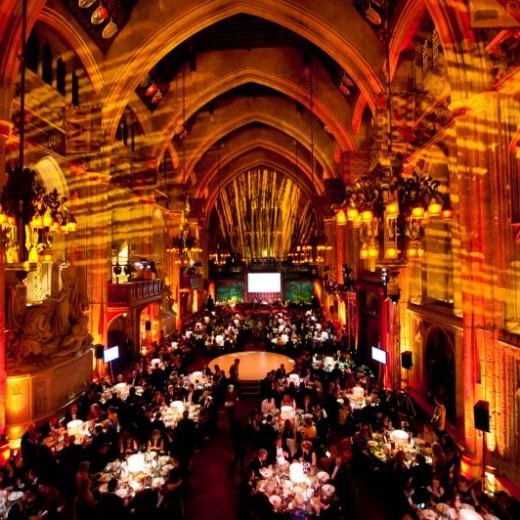 Guildhall, Great Hall, london, events, event professionals, uplighter, orange, gobos, rounds,