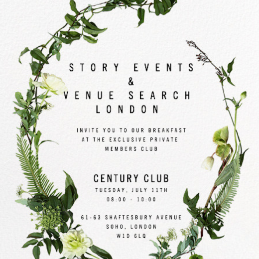 invitation, events, story events, private members club, century club, soho, london, showcase, venue search london, venues, parties, event professionals