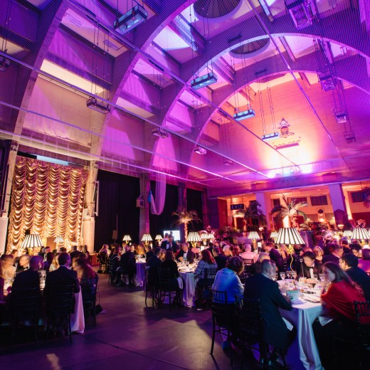 Westminster, events, london, school hall, palm trees, theming, decor, table setup, 1920's, glamour, luxury, high net worth, music, saxophone, band, keyboard, classical, guests, gold curtain