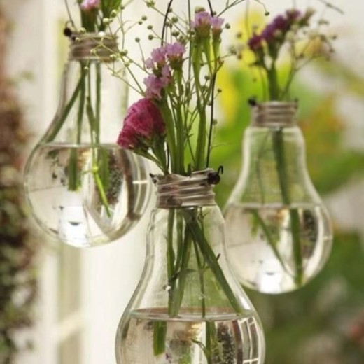 lightbulbs, florals, hanging, water, flowers, events, decor, theming, styling