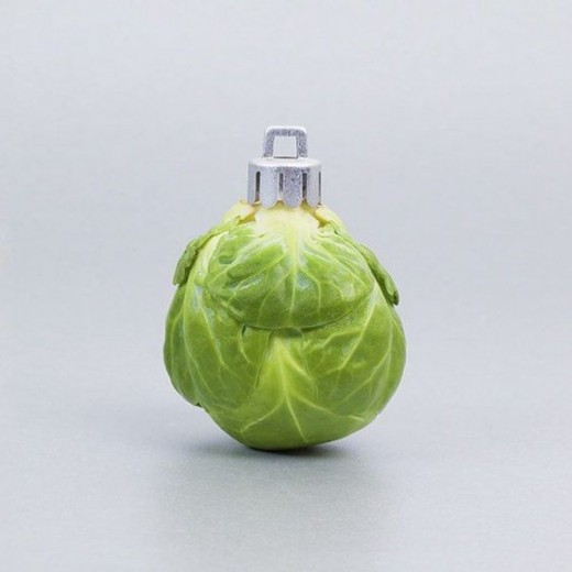 pop art, christmas, brussel sprout, bauble, christmas tree, decoration, theming