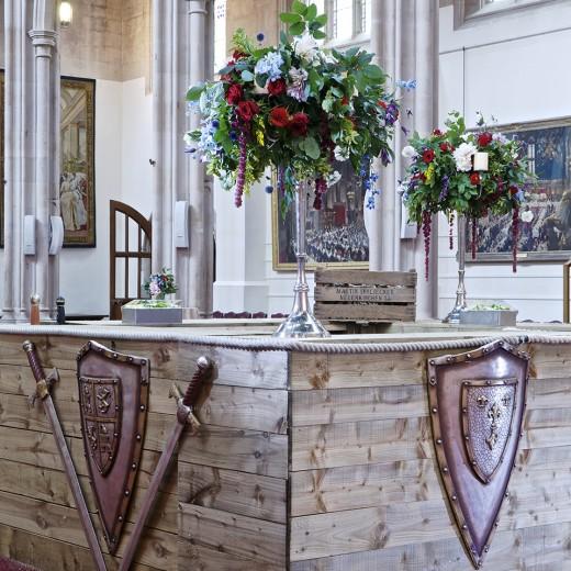 medieval, london business school, graduation, Guildhall, london, red carpet, florals, trumpets, music, welcome, elegant, florals, bar, shields