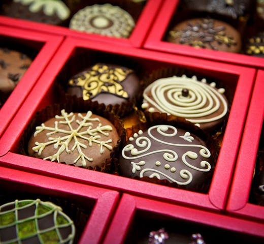 Christmas, chocolate, making, team building, events, event professionals, snowflakes,