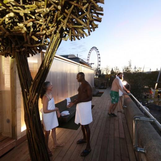 Finnish Rooftop Sauna, relaxation, spa, London, Southbank, london eye, events, London,