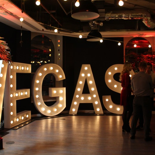 neon sign, Christmas, party, Natural Motion, event, venues, London, December, vegas, theming, concept
